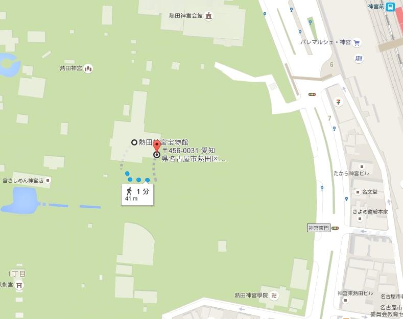 熱田神宮・利用者専用駐車場(西口)